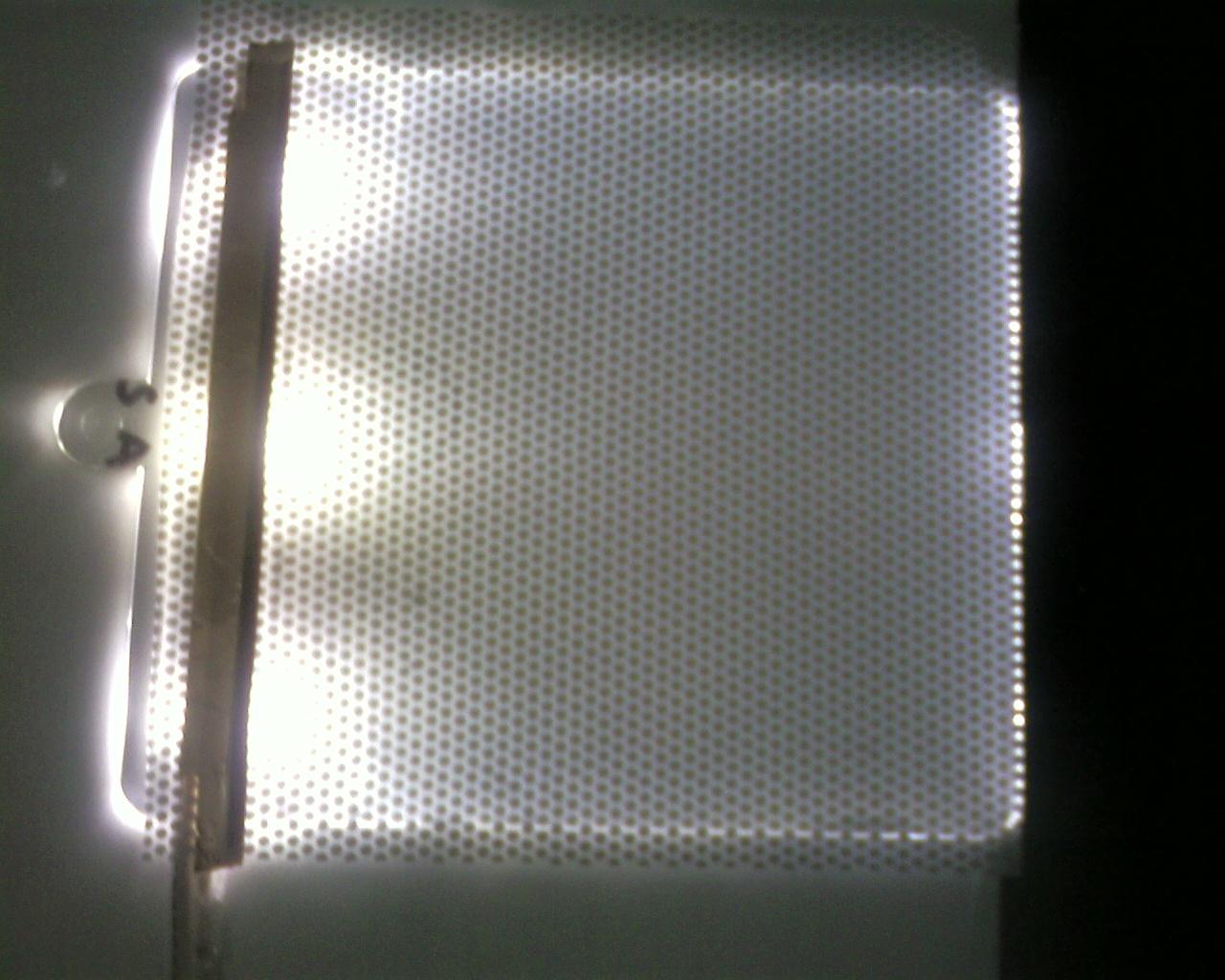 Verformbaren Kunststofftafel mit integrierter LED-Beleuchtung